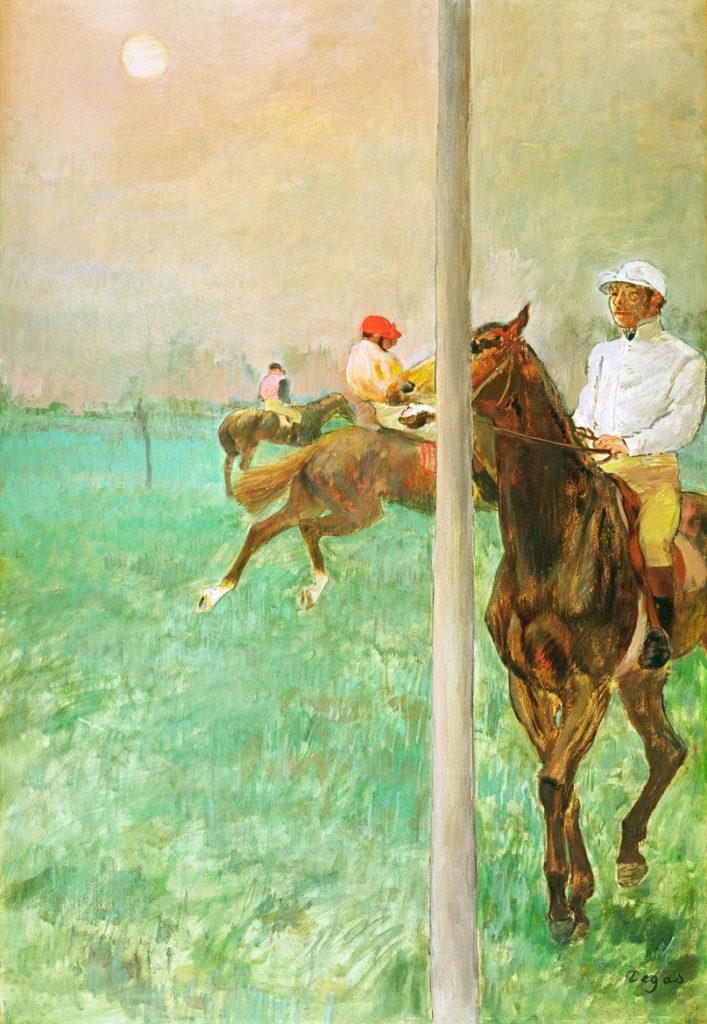 Шедевры живописи импрессионизма: Жокеи перед скачками, Эдгар Дега