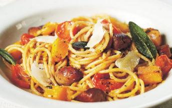 Спагетти с сосисками — пошаговый рецепт