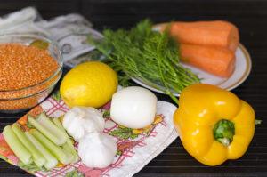 Суп из красной чечевицы: набор продуктов, рецепт и фото