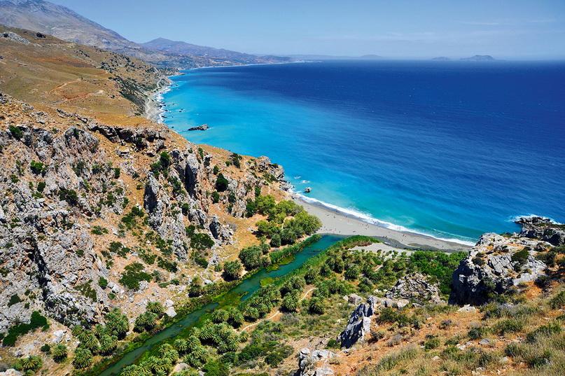 Лучшие пляжи Крита: панорама Превели