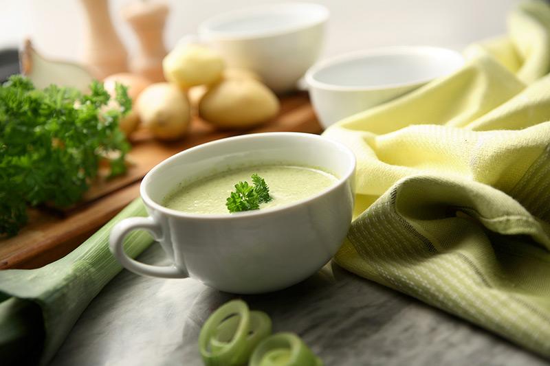 Как приготовить французский холодный суп Вишисуаз (по шагам)