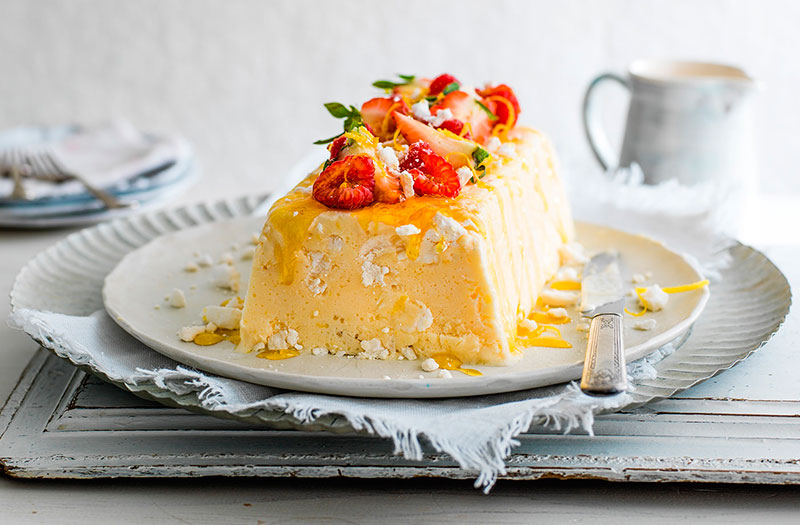 Итальянский десерт семифредо в добавлением лимона