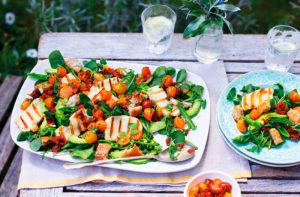 Рецепт приготовления кипрского салата с сыром халуми