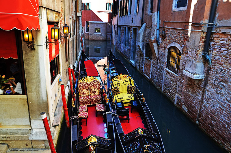 Экскурсии на гондолах по каналам Венеции: маршруты, цены, лодочные стоянки