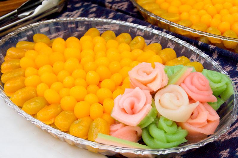 Традиционный свадебный десерт Таиланда