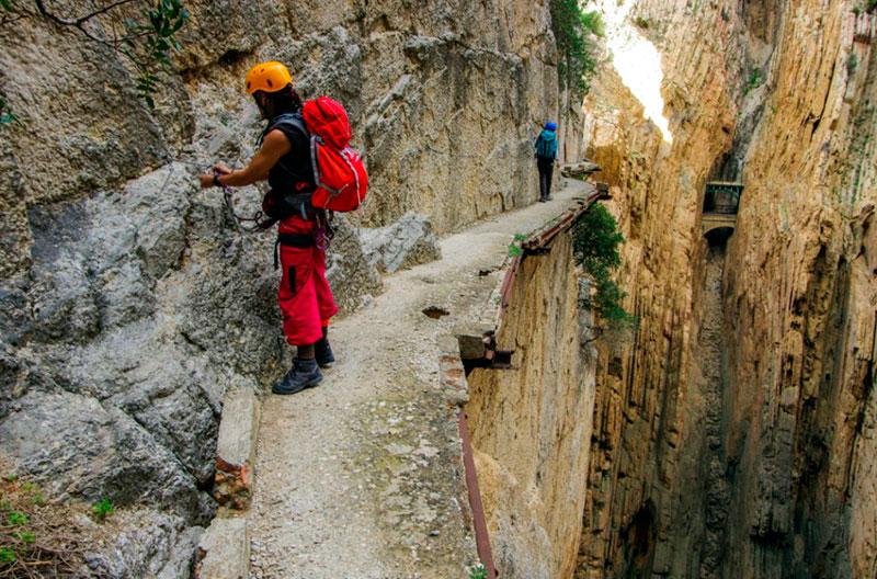 Каминито-дель-Рей (Малага, Испания) до реконструкции