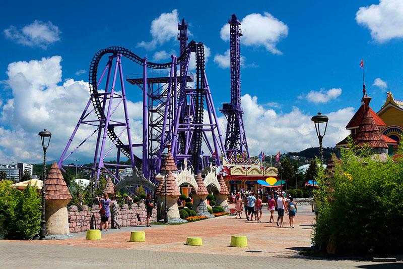 Парк развлечений Сочи Парк: экстремальные аттрационы
