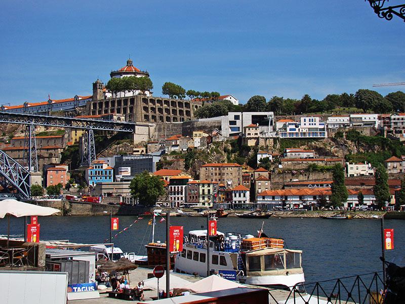 Набережная района Рибейра (Порту, Португалия)