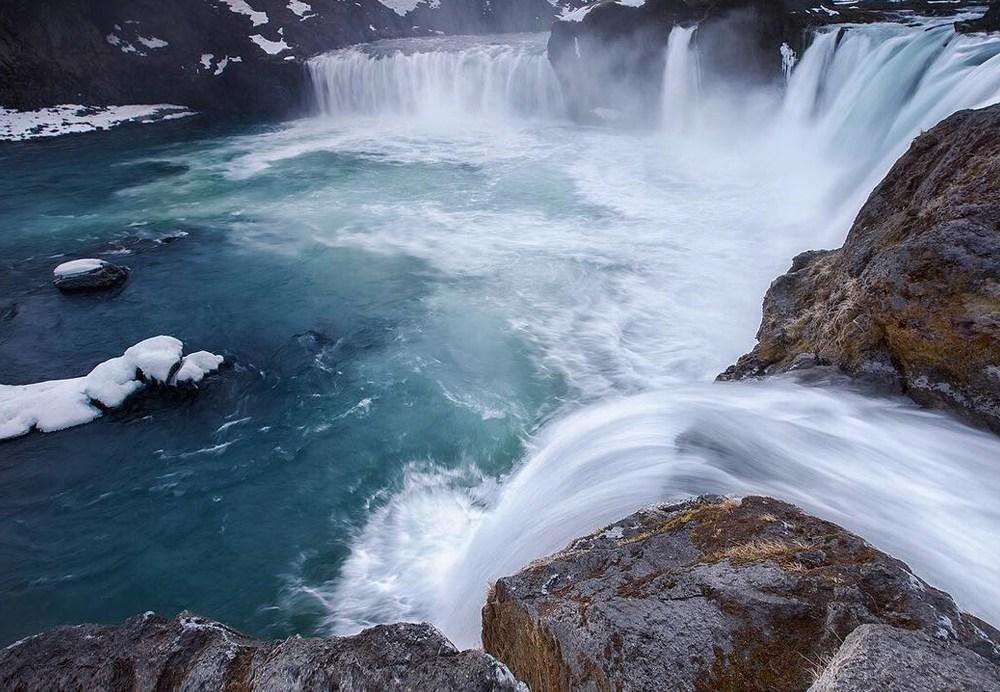 Экскурсия к водопаду Годафосс зимой, Исландия