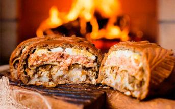Кулебяка рыбная — фото, ингредиенты, рецепт