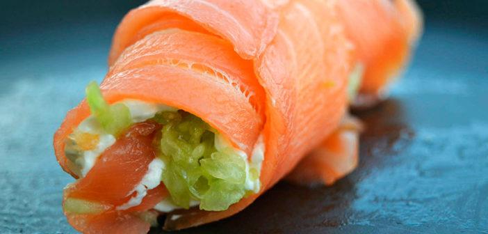 Рулет из лосося или семги с сыром (фото, ингредиенты, рецепт)