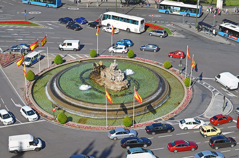 Площадь Сибелес в Мадриде (Plaza de Cibeles)