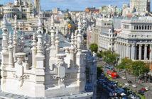 Панорама Мадрида с площади Сибелес