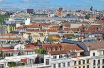 Вид со смотровой площадки Сибелес (Мадрид)