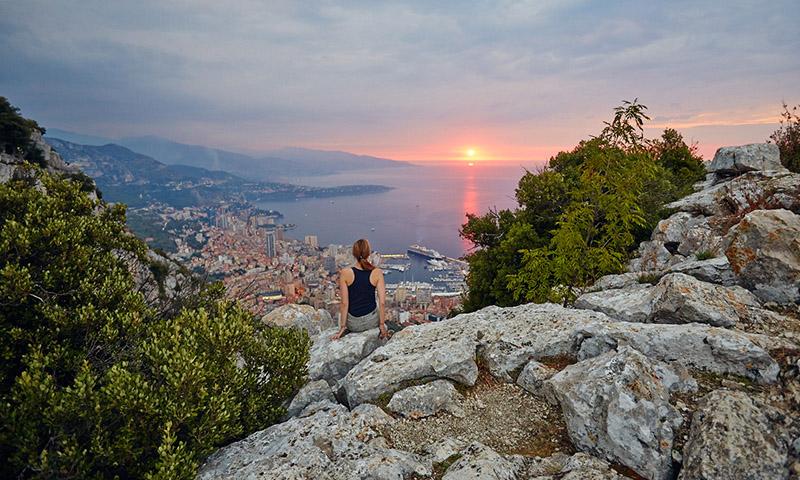 Вид Монако из Ла-Тюрби (Лазурный берег, Франция) ницца 10 мест, куда можно поехать из Ниццы. kuda sezdit iz nitstsy 2