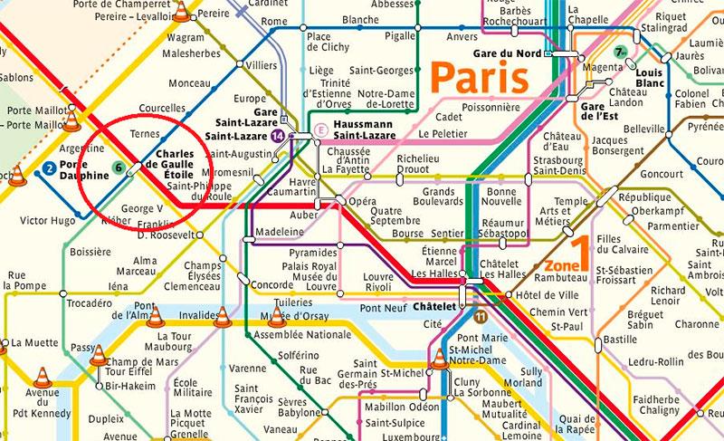 Триумфальная арка, Париж: как добраться на метро