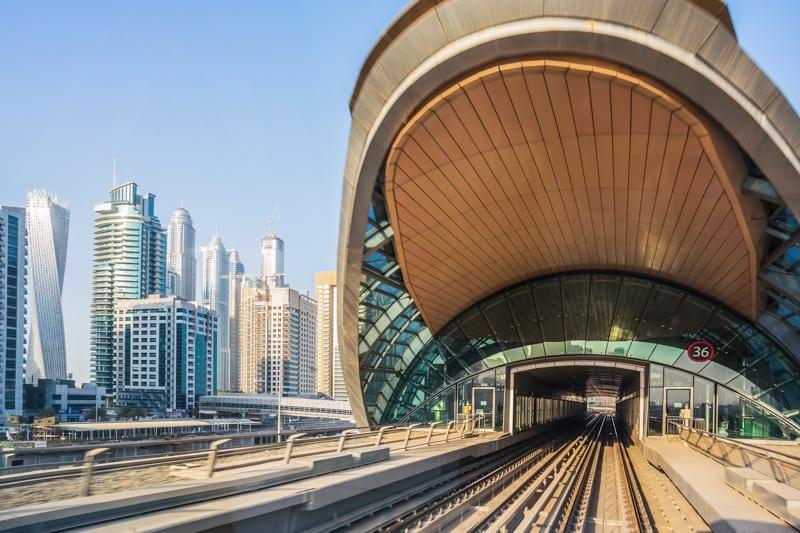 Станция метро DMCC (бывшая Dubai Marina)