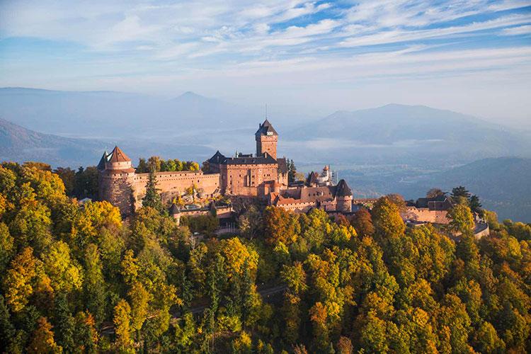 Винная дорога Эльзаса: замок Верхний Кенигсбург Винный маршрут Эльзаса Винный маршрут Эльзаса vinnaya doroga jelzasa 5