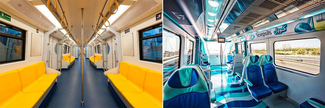 Метро в Дубае: вагоны и цены