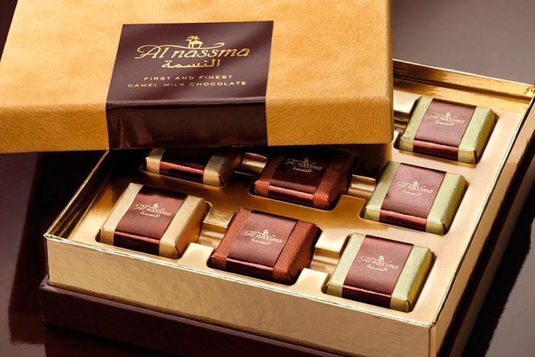 Сувениры из Дубая: шоколад из верблюжьего молока