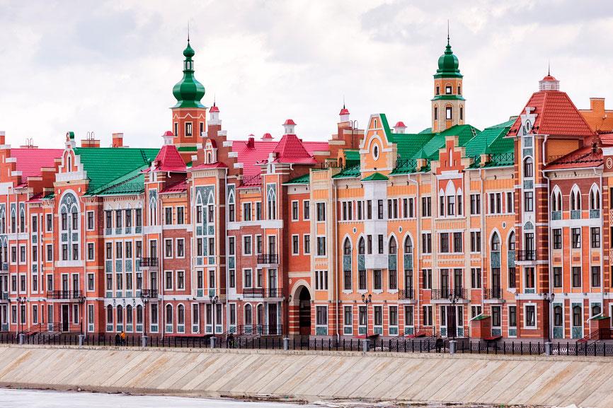 Экскурсии из Казани на один день: набережная Йошкар-Олы