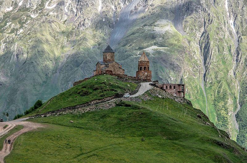Церковь Гергети в Грузии