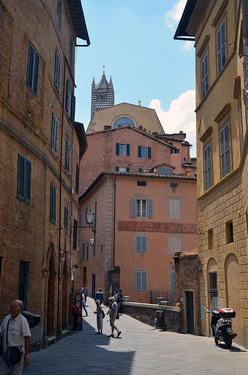 Улицы Старого города Сиены, Италия