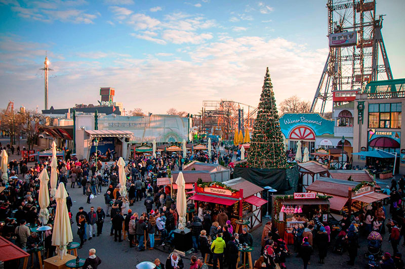 Лучшие ярмарки Вены: Wintermarkt am Riesenradplatz