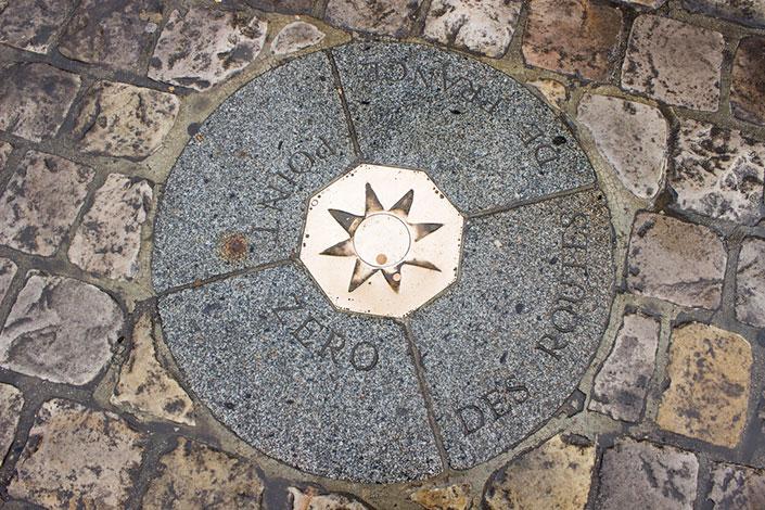 Точка отсчета собора (Нотр-Дам-де-Пари, Париж)