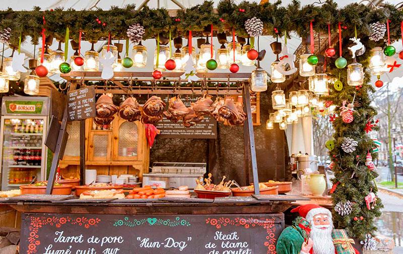 Рождество в Париже: ярмарка перед собором Нотр-Дам