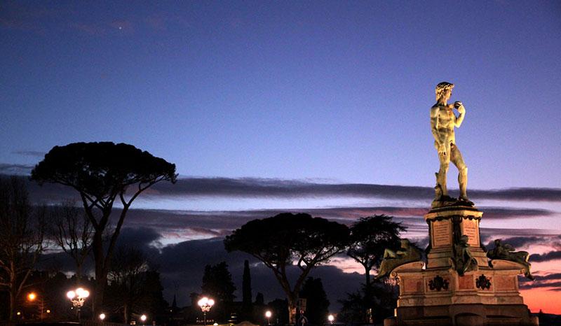 Фото: площадь Микеланджело, Флоренция