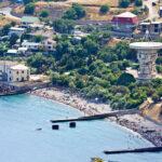 Побережье Южного берега Крыма в поселке Кацивели