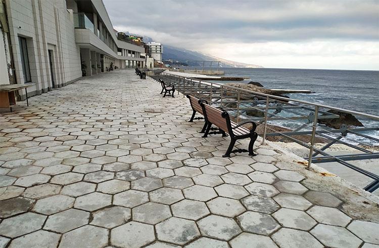 Пляж санатория Форос, Крым