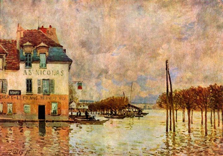 Наводнение в Марли, Альфред Сислей