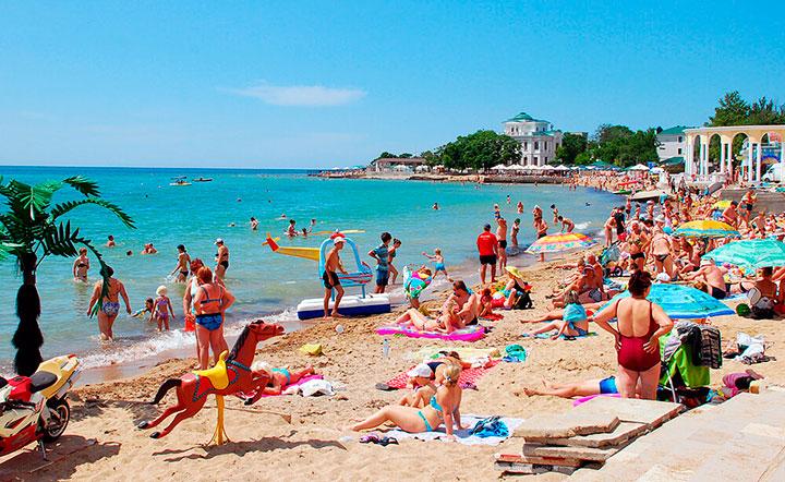 Городской пляж Евпатории