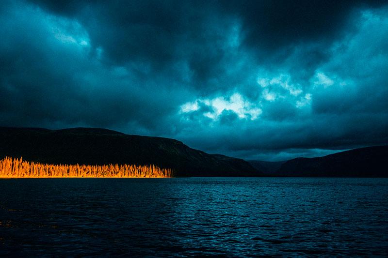 Сейдозеро ночью, Мурманская область