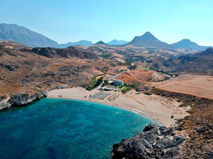 Пляж Скинария на Крите